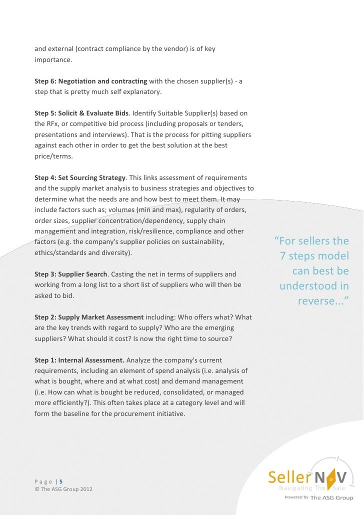 The 7 Step Strategic Procurement Model