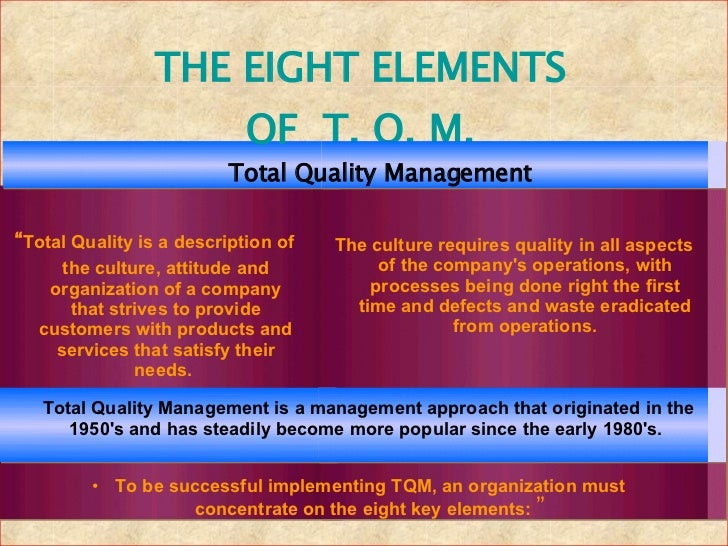 Total quality management research paper