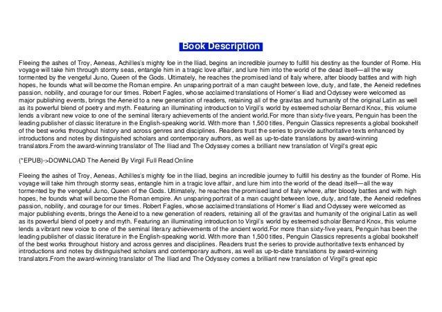 (*EPUB)->DOWNLOAD The Aeneid By Virgil Full Read Online Slide 3