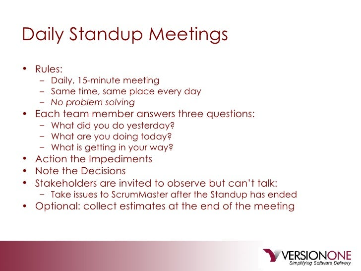 stand up meeting minutes template - the agile pmp workshop