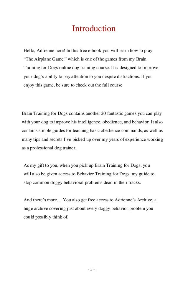 The airplane-game dog training by adrienne farricelli