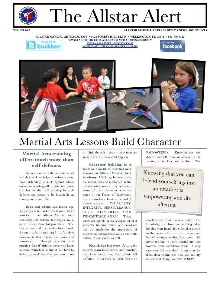 SPRING 2011                           The Allstar Alert                                   ALLSTAR MARTIAL ARTS ACADEMY'S N...