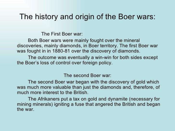 Boer war summary