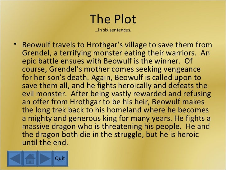 literary analysis of the epic poem beowulf Home » literature » poetry » analysis of a full analysis of beowulf) revolves around epic heroic ancestry that are given throughout the epic poem.