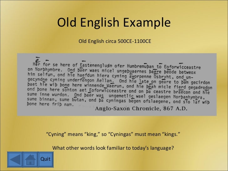 Old English Lessons | Þæt Eald-Ænglisce Blog