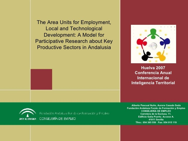 The Area Units for Employment, Local and Technological Development: A Model for Participative Research about Key Productiv...