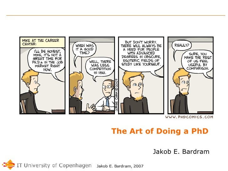 The Art of Doing a PhD Jakob E. Bardram