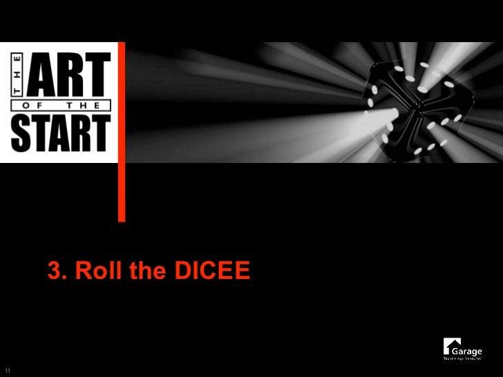 3. Roll the DICEE   11