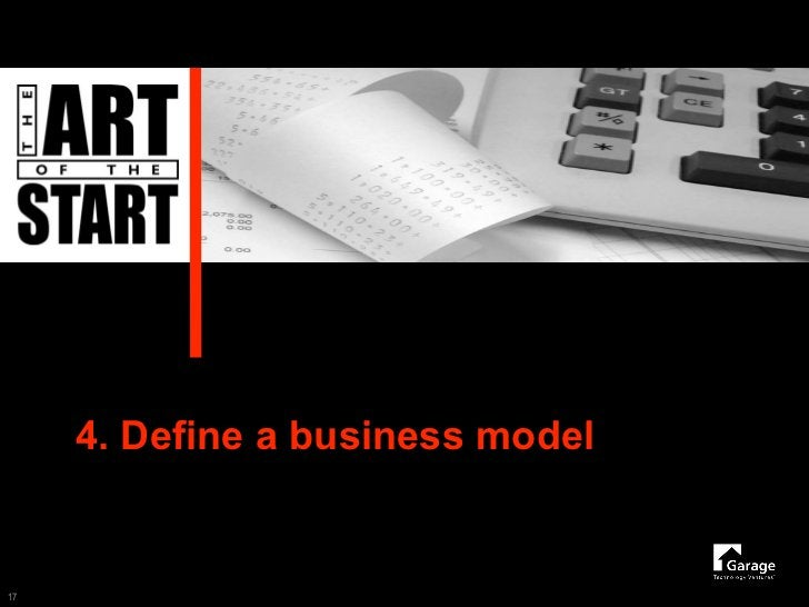 4. Define a business model   17