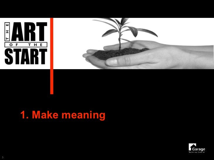 1. Make meaning   3