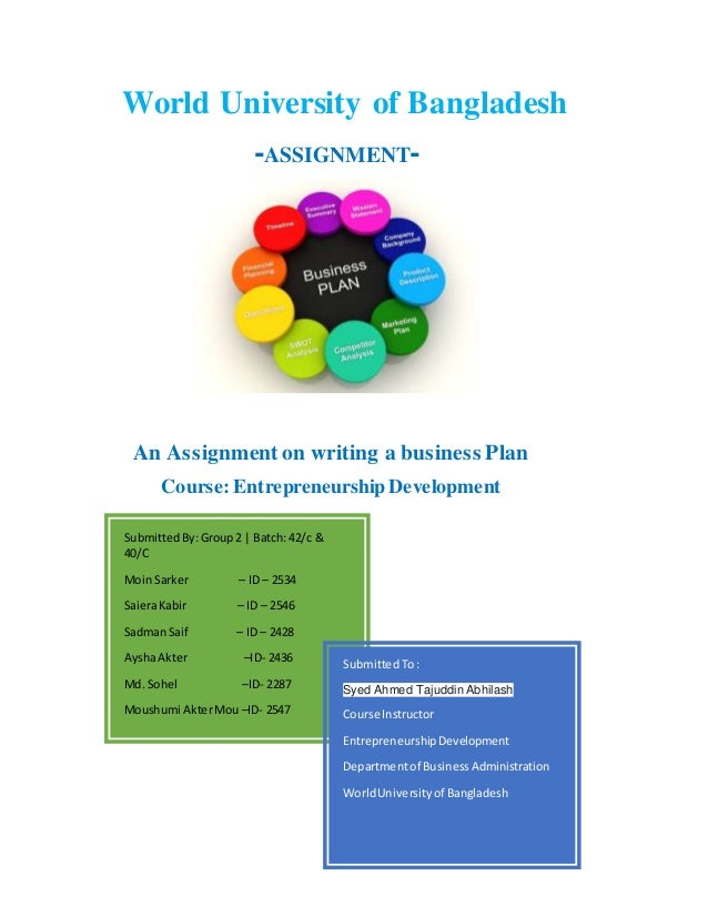 business plan assignment for students pdf