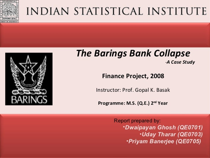 Collapse of barings bank