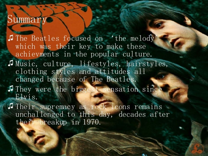 beatles influence on british culture The nature of the culture as conditioned by britain's imperial decline, but  the  primary influences on the beatles music were (other than the.