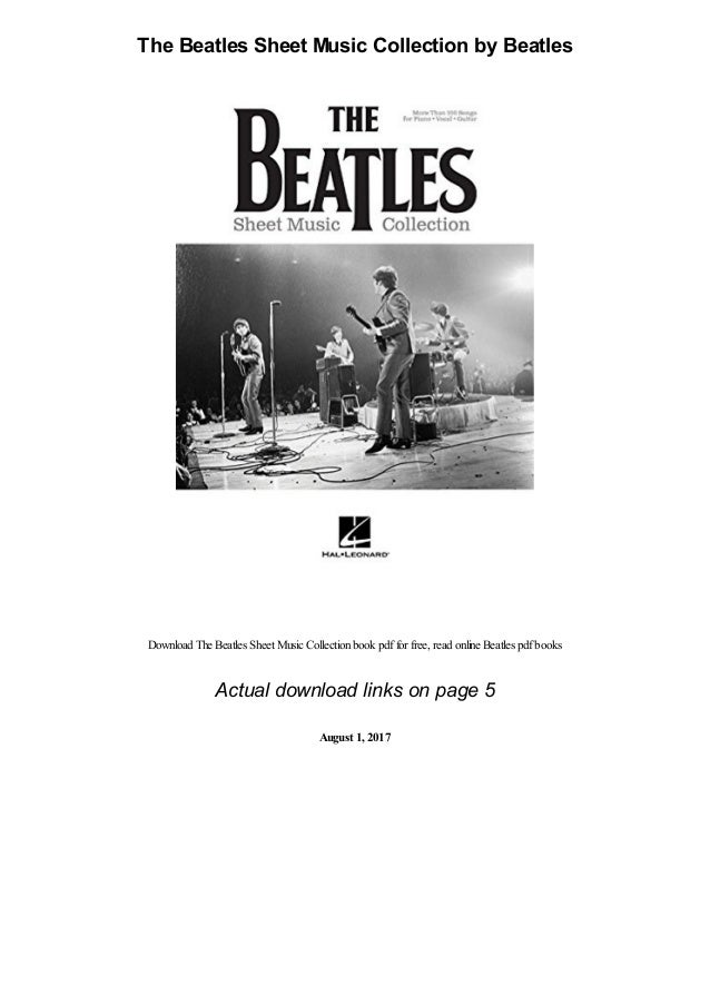 the beatles sheet music collection by beatles pdf 1 638
