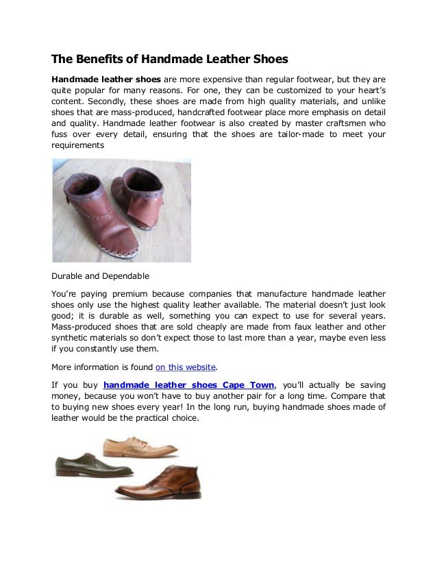 Leather shoe manufacturers cape town