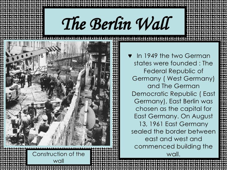 Image result for first steps toward building the berlin