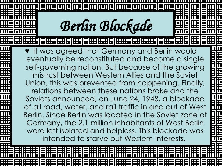 the berlin airlift essay Berlin airlift berlin airlift western europe pre 1939  the west responded to the blockade by organising an airlift of supplies to berlin consequences facts.