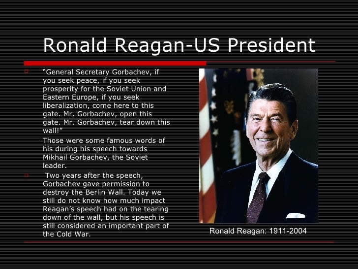 reagan speech analysis Remarks on east-west relations at the brandenburg gate in west berlin journalist is given freedom of speech reagan met with west german president.