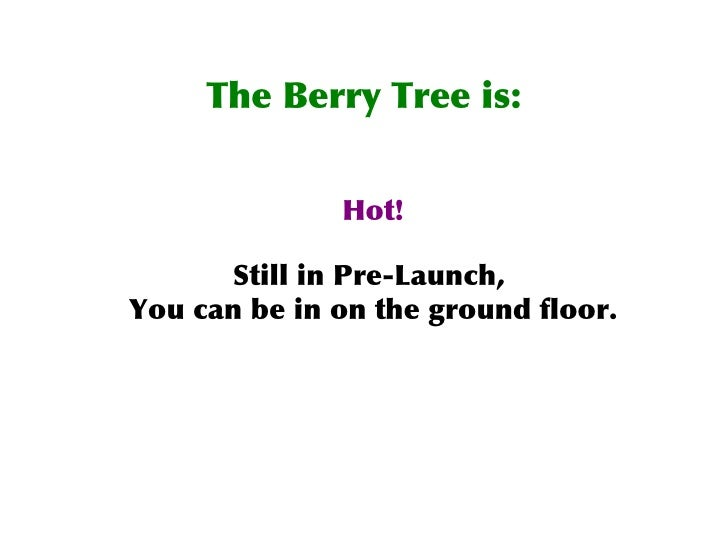 The Berry Tree How It Works 75139
