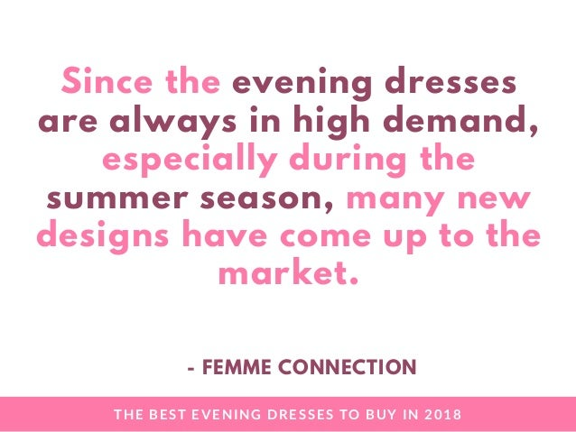 The Best Evening Dress to Buy in 2018 (FemmeConnection) Slide 3