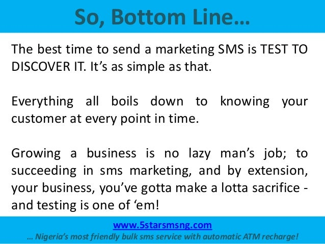 the best time to send your bulk marketing sms
