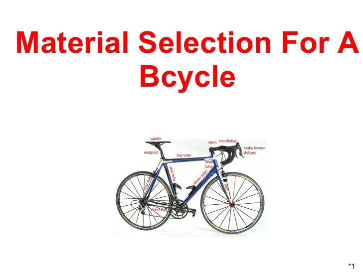 Elegant Material Selection For A Bcycle *1 ...