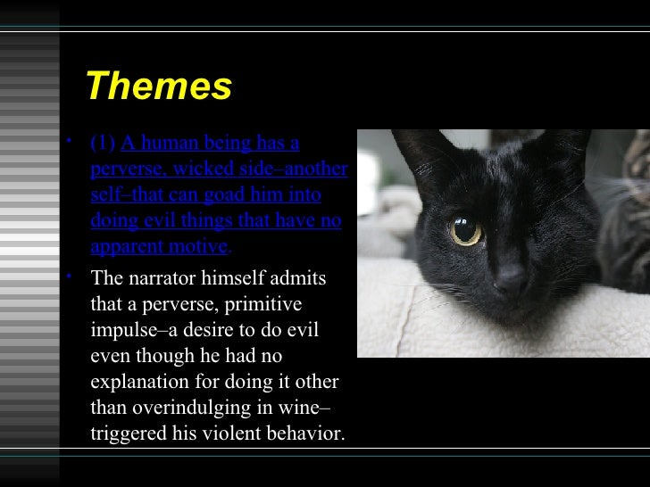 black cat short story analysis This paper is a literary analysis of the short stories the black cat binary oppositions in the black cat and the tell to the previous short story.