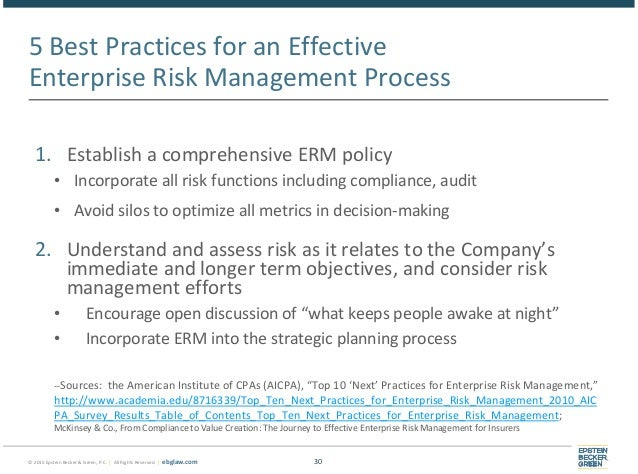The Health Plan Board's Role in Managing Risk