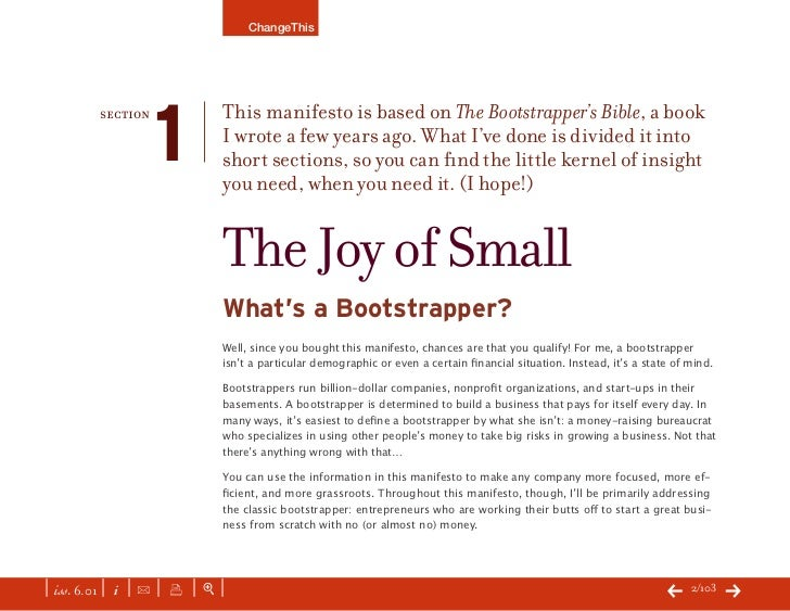 The Bootstrapper's Bible by Seth Godin Slide 2