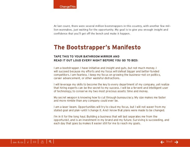 The Bootstrapper's Bible by Seth Godin Slide 3