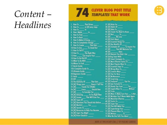 Content –  Headlines