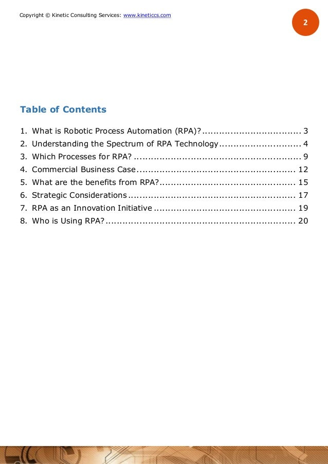 The Business Case for Robotic Process Automation (RPA)