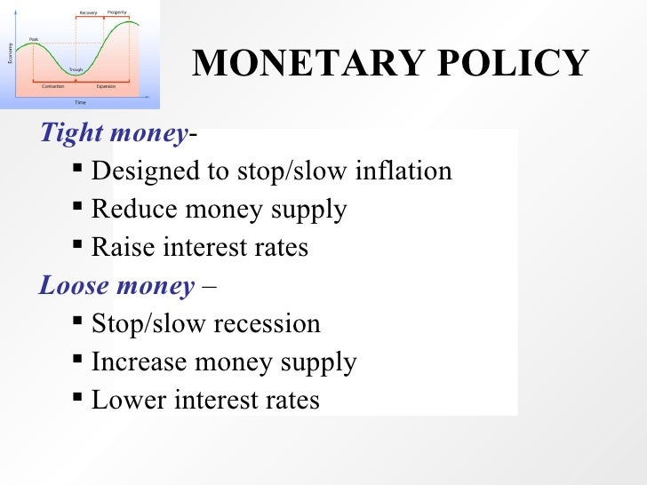 tighter monetary fiscal policy At best it has an announcement effect that signals direction of monetary policy e summary: monetary it is speedier and more flexible than fiscal policy.