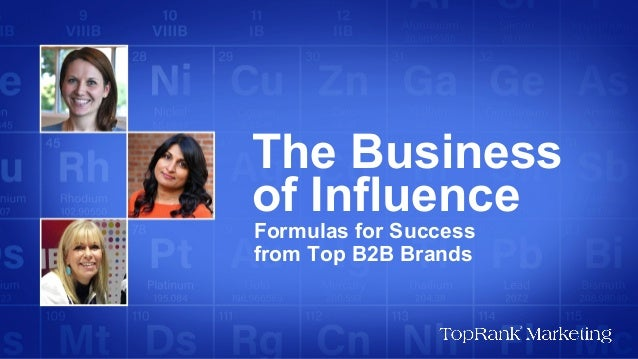 The Business of Influence - B2B Influencer Marketing eBook