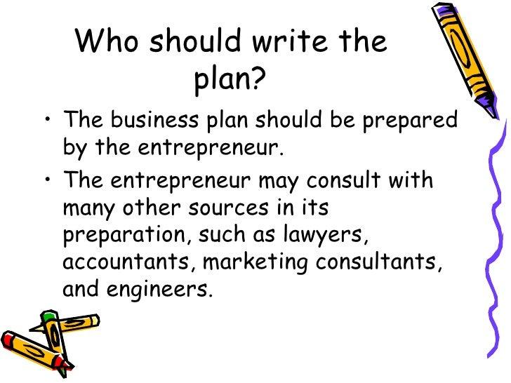 who should write a test plan