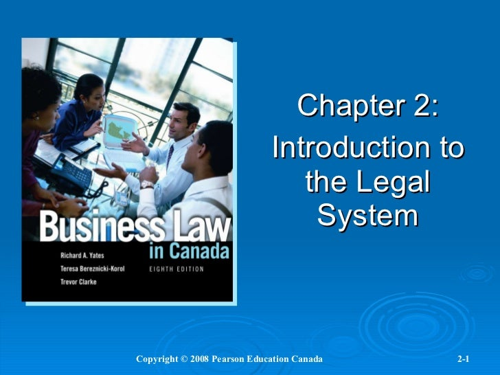 Chapter 2: Introduction to the Legal System