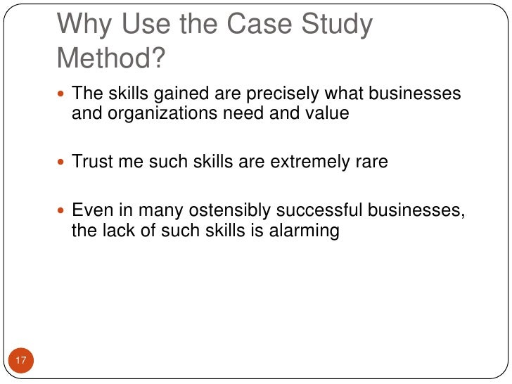Use case study method