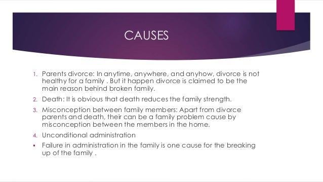 Essay on divorce effects