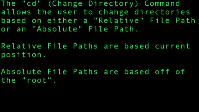 cd file path