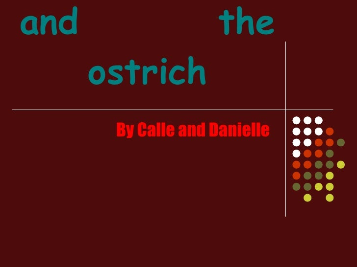 The cheetah and  the ostrich By Calle and Danielle