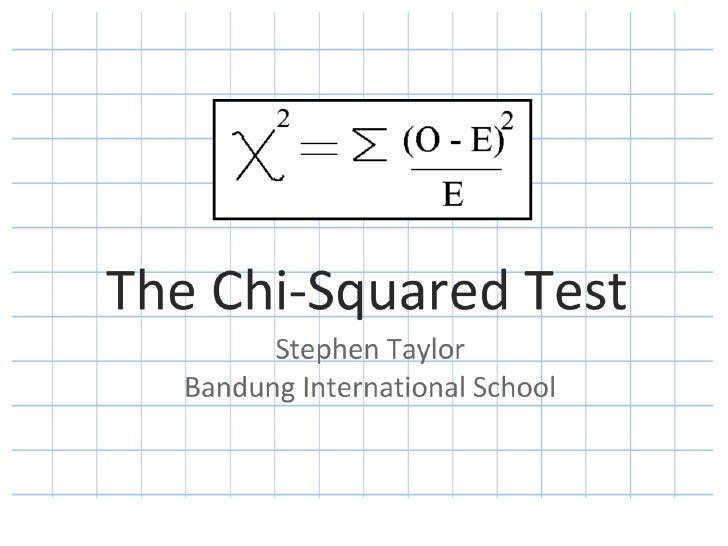 The Chi Squared Test