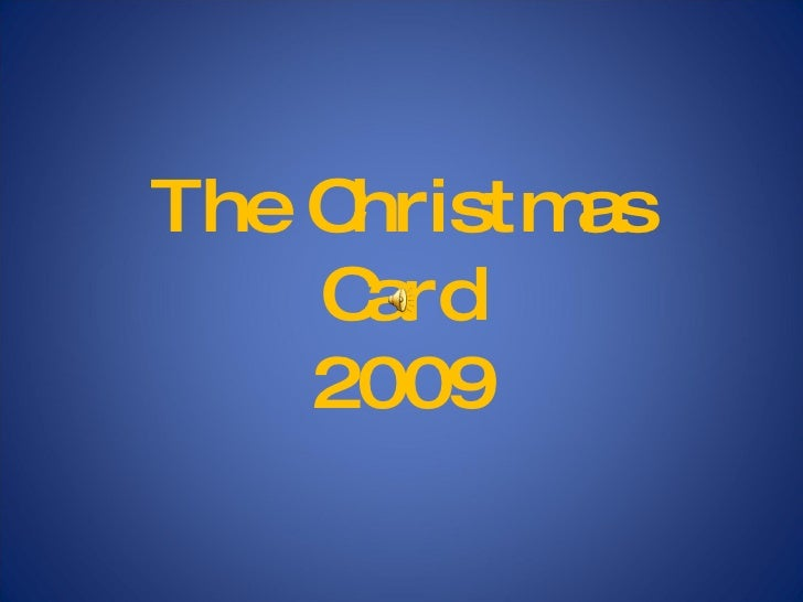 The Christmas Card 2009