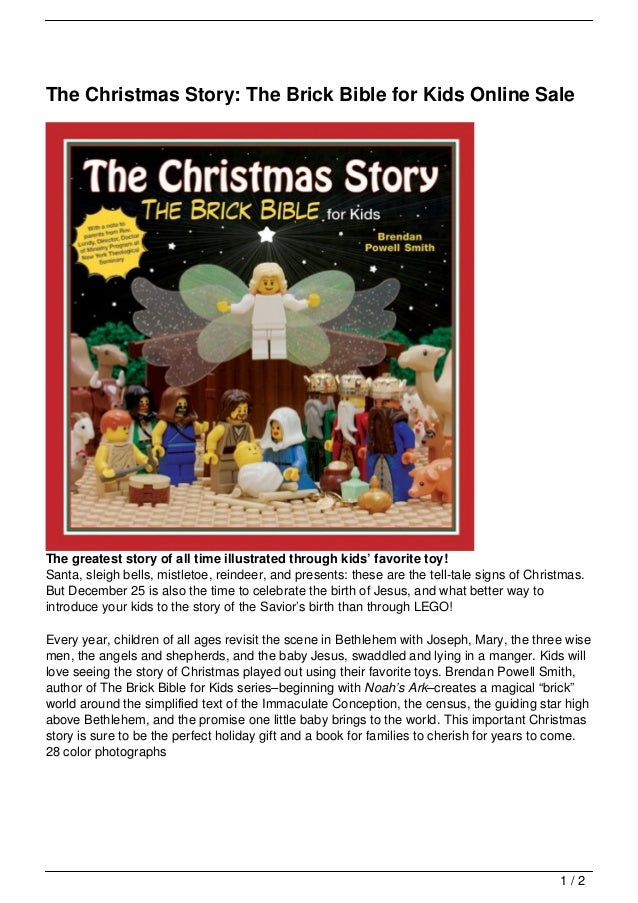 The Christmas Story The Brick Bible For Kids Online Sale
