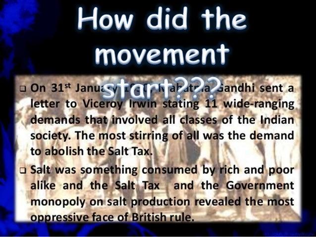 The Civil Disobedience Movement Slide 2