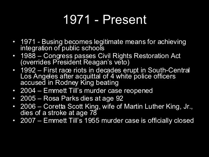 an overview of the influence of rosa parks in the civil rights movement Montgomery bus boycott part of the civil rights movement: rosa parks on a montgomery bus on december 21, 1956, the day montgomery's public transportation system was legally integrated.