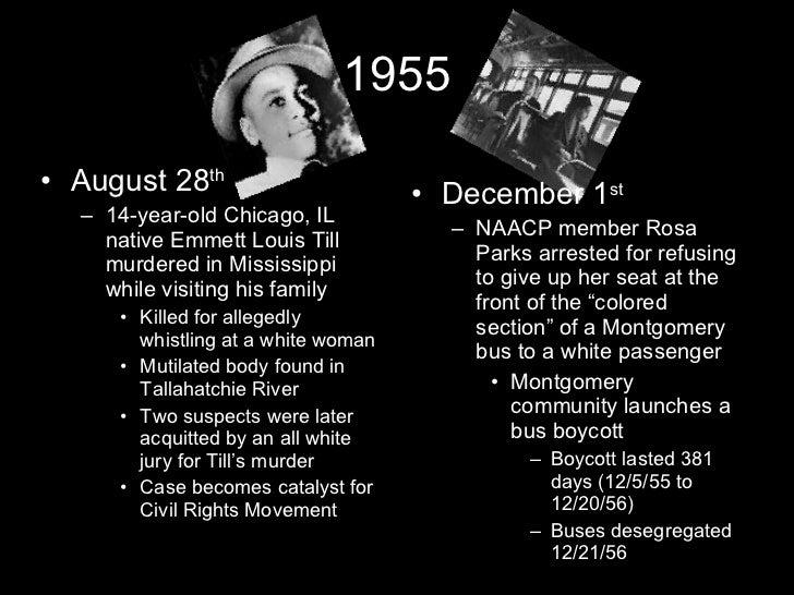 The Civil Rights Movement Timeline Slide 3