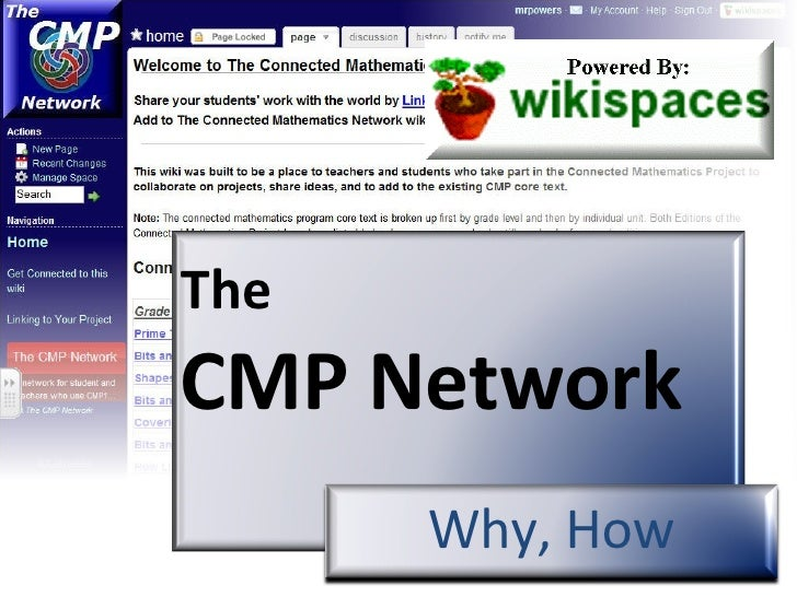 The  CMP Network   Why, How