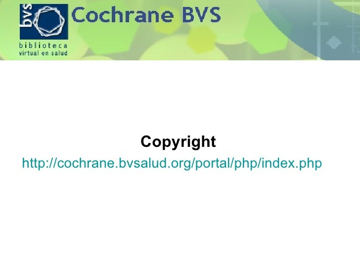 The cochrane library - Libreria cochrane ...