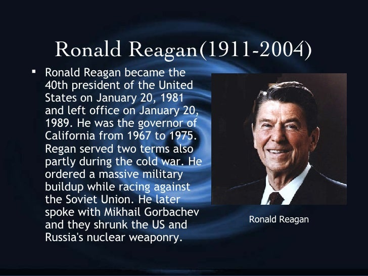 ronald reagan and the cold war essay Did reagan end the cold war the cold war (1945-1991) was fought between the two major superpowers in the world remaining after world war 11-the united states and the soviet union the.