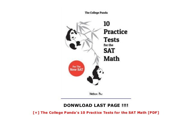 The College Panda's 10 Practice Tests for the SAT Math [PDF]